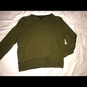 Army Green J Crew Pullover - S